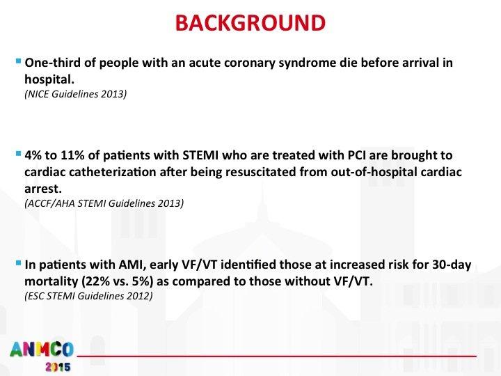 2. Si stima che circa un terzo dei pazienti STEMI deceda prima dell'arrivo in ospedale.