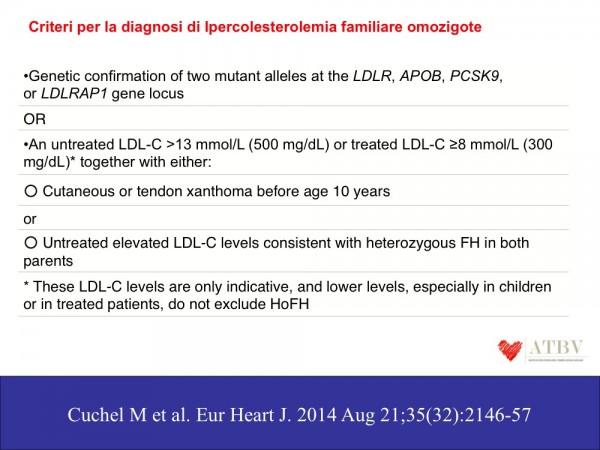 PARIGGIANO Ipercolesterolemia familiare F2